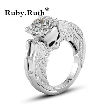 Skull Angel Wings Rings For Women Wedding Accessory Jewelry Ring
