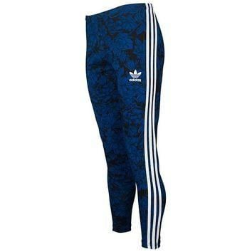 adidas Originals Blue Floral Leggings - Women's at Lady Foot Locker