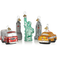 Bombki - Little New York set of five glass baubles