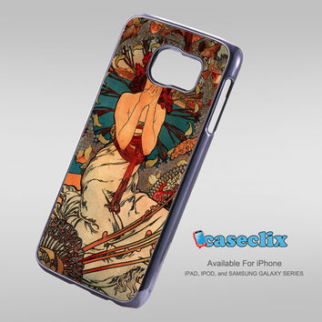 vintage Alphonse Mucha painting For Smartphone Case