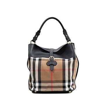 Burberry Women's Sycamore Hobo with Horseshoe Beige Black