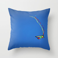 Summer Kite Throw Pillow by  Alexia Miles Photography