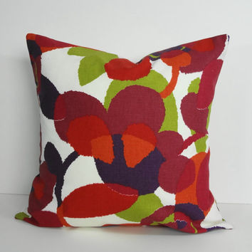 Decorative Pillow Cover, Throw Pillow Cover, Cushion Cover, Robert Allen at Home, 18 x 18, 16 x 16, Red, Purple, Green, Orange
