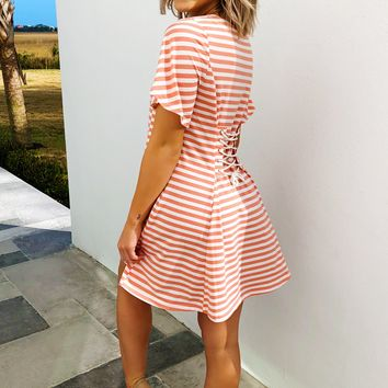 The Dreamsicle Dress: Coral/Ivory