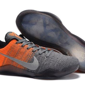 jacklish nike kobe 11 elite low easter grey orange newest sale  number 1