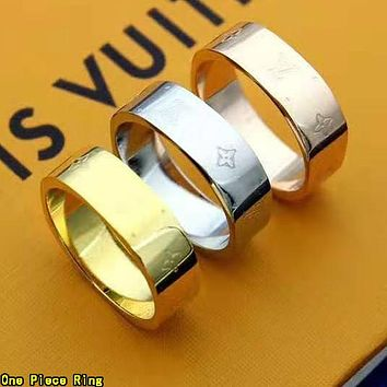 Louis Vuitton LV Hot Sale Women Men Titanium Steel Ring Jewelry Accessories