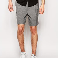 ASOS Slim Fit Shorts With Pleats