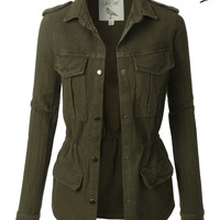 White Crow Rain On Me Womens Handcrafted Military Anorak Jacket