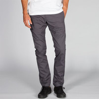 Mens Skinny Straight Pants Charcoal  In Sizes