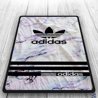 Free Shipping Adidas White Marble Sripe Custom Blanket Print On