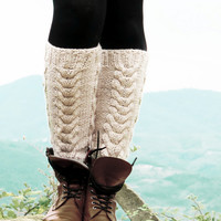 Vanilla Boot Cuffs - Knitted Boot Cuffs - Legwarmers - Half Sock - Women - Teen Girls - Cable Knit Leg Warmers - Boot Socks - Winter Socks