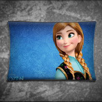 Unique Pillow Cover, Disney Princess Anna Frozen Wide, Suitable For Any Age, Soft, Comfortable, Stylish