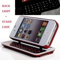Cool Buy`s Second Generation Multifunction Bluetooth Keyboard Case for Iphone 4 / Iphone 4s - Red: Cell Phones & Accessories