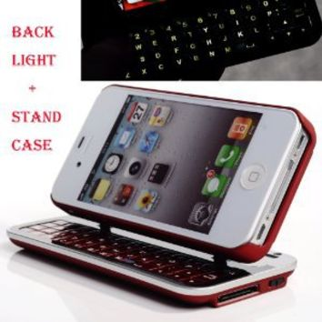 Cool Buy's Second Generation Multifunction Bluetooth Keyboard Case for Iphone 4 / Iphone 4s - Red