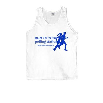 Run To Your Polling Station, Save Our Democracy -- Unisex Tanktop