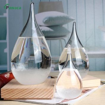 Home Decorative Ornament Creative Weather Forecast Bottle Crystal Drop Tempo Storm Glass Water Drop Home Decor Wedding Gifts