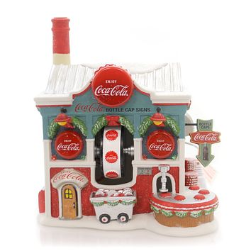 Department 56 House Coca Cola Bottle Caps Village Lighted Building
