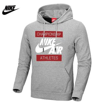 NIKE 2018 autumn and winter new casual hooded pullover sweater Grey