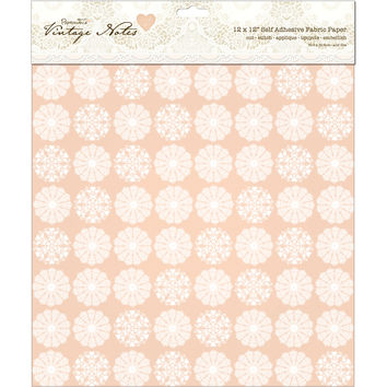 "Papermania Vintage Notes Self-Adhesive Fabric Paper 12""""X12""""-Filigree"