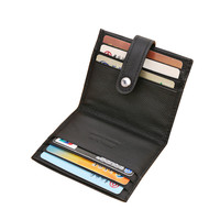 New Hasp Genuine Leather Business ID Cards Holders Black Coffee Solid Credit Card Holder For Unisex Designer Free Shipping