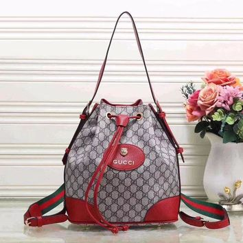 Gucci Fashion New Women Leather Shoulder Bag Handbag Backpack