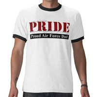 Proud Air Force Dad Tee Shirt from Zazzle.com