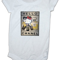 Hello Kitty Coco Chanel Inspired baby Onesuit