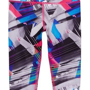 adidas | Printed Capri Tight Legging (Little Girls) | Nordstrom Rack