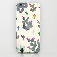 Cactus Desert Black and white Color iPhone & iPod Case by Crystal ★ Walen