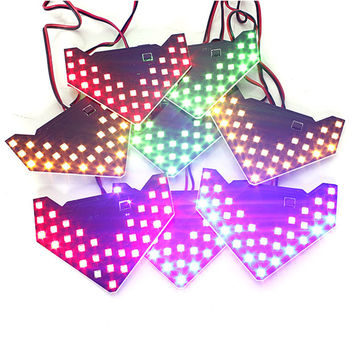 2pcs 33 SMD LED Arrow Panels Car Side Mirror Turn Signal Indicator Light Sequential Yellow/Red/Blue/Green/White flash light