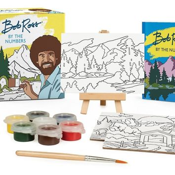 Bob Ross by the Numbers Mini Art Set