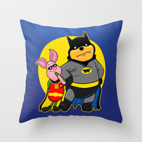 Winnie the Pooh as Batman | Winnie the Bat Throw Pillow by Olechka