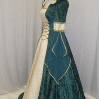 Celtic wedding dress Renaissace medieval  custom made