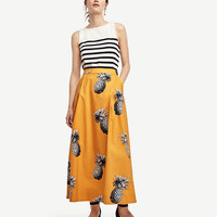 Pineapple Maxi Skirt | Ann Taylor