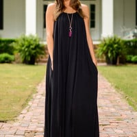 Into The Night Maxi Dress, Black