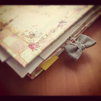 Jeans Bow Paper Clip Bookmark
