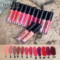 IMAGIC Lipgloss Waterproof Matte Lip Gloss Moisturizer LipStick Long Lasting Charming Lipgloss Cosmetic Beauty Makeup Lip