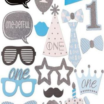 Boys First Year Birthday Photo Booth Prop Fun Masks - PRA114