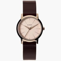 Nixon Kenzi Leather Watch Rose Gold/Brown One Size For Women 25953044901