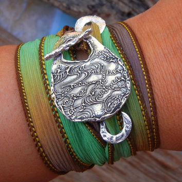 Fall Jewelry Silk Wrap Bracelet