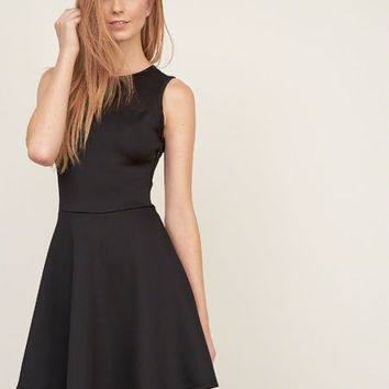 Mesh Yoke Neoprene dress