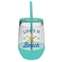 Life's A Beach Insulated Stemless Wine Glass