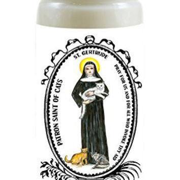 Saint Gertrude Patron of Cats 8 Ounce Scented Soy Prayer Candle