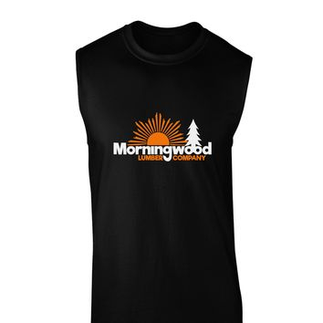 Morningwood Company Funny Dark Muscle Shirt  by TooLoud