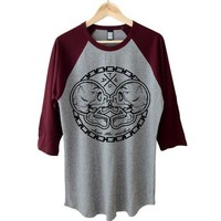 Skull Raglan (tall fit)