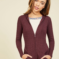 Layer to Rely On Hoodie in Merlot | Mod Retro Vintage Jackets | ModCloth.com