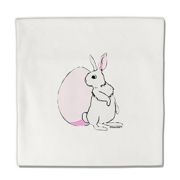 """Easter Bunny and Egg Design Micro Fleece 14""""x14"""" Pillow Sham by TooLoud"""