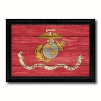 US Marine Corps Retired Military Flag Texture Canvas Print with Black Picture Frame Gift Ideas Home Decor Wall Art