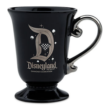 disney parks disneyland 60th diamond celebration ceramic coffee mug new