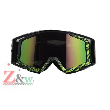 New Design Green Frame Dust-proof Goggles Motorcycle Motocross Dirt Bike Cycling Bicycle Racing Windproof Eyewear Google Glasses